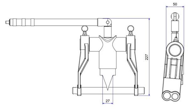 SFM7T bộ tách mặt bích bằng cơ khí độ mở ngàm 155mm