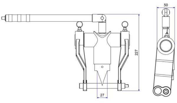 SFM7T bộ tách mặt bích bằng cơ khí độ mở ngàm 91mm
