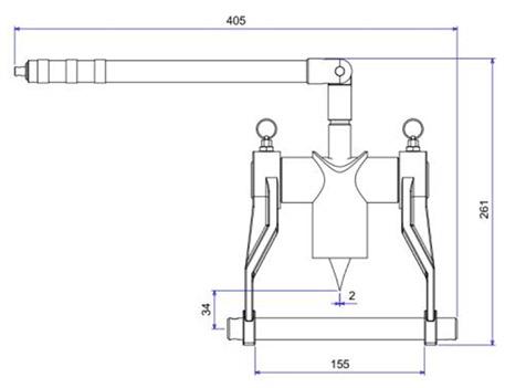 SFM7T bộ tách mặt bích bằng cơ khí độ rộng ngàm 155mm