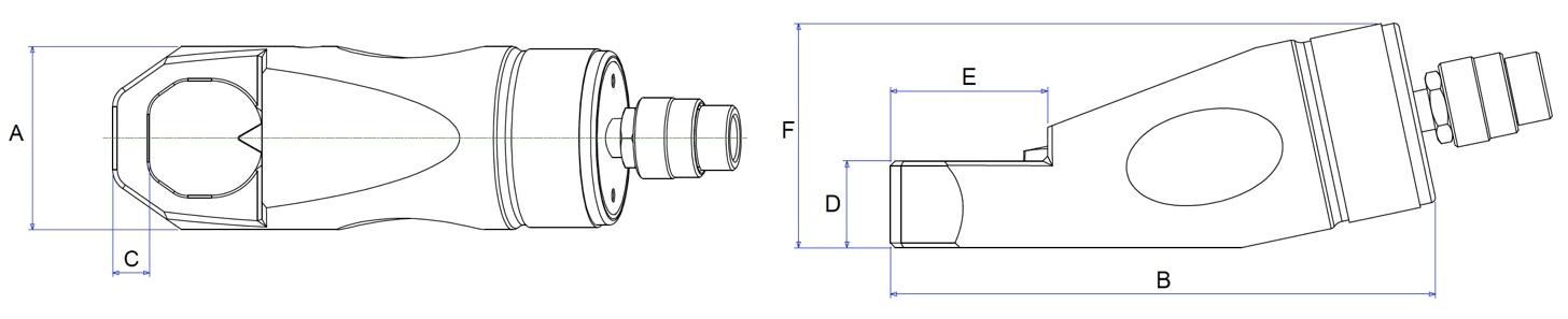 kích thước bộ cắt đai ốc bằng thủy lực HNS